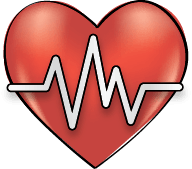 A fast or irregular heartbeat.